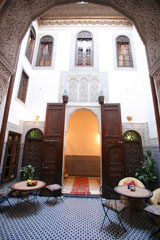 A courtyard in a Morocan